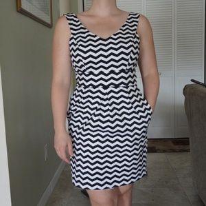 WHBM Chevron Dress